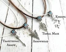 Boho Jewelry- Hippie Necklaces-Tribal Arrowhead Necklaces-Coachella Jewelry- Hipster Necklaces for Her-Boho Silver Arrow Charm Necklaces