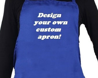 Personalized apron.   design your own custom apron.  Baker's gift!  Great for Restaurants or home use, bakery apron, Christmas apron gift