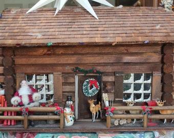 Miniature/Doll House/Santa's Workshop/Handcrafted/Artist Designed