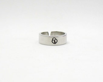 Lock Ring - Personalized Name Ring - Personalized Ring - Custom Ring - Handstamped Ring - Name Ring - Mothers Ring - Adjustable Ring