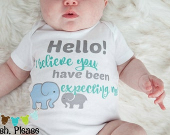 OnePiece Newborn Take Home Outfit Baby Announcement Outfit Newborn Going Home BodySuit Baby Shower Gift