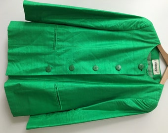 Green silk Blazer and a dress by Electre Paris from the '70s.