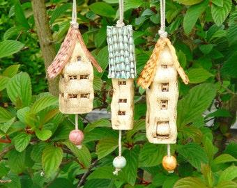 Ceramic wind chime bells
