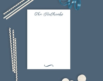 Personalized Magnetic Notepads - Pink and Navy - Personalized Notepads - 50 Pages