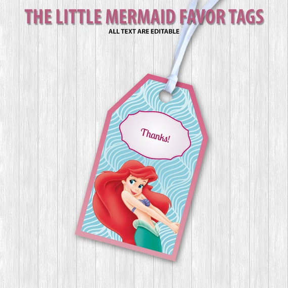 Wedding Favor Ideas Little Mermaid: The Little Mermaid Favor Tags