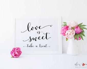 Love is Sweet Take a Treat Printable