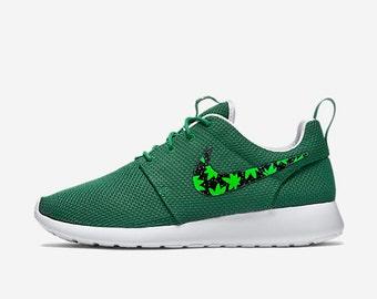 gvsoz Womens Custom Nike Roshe Run Floral design Custom by CustomSneakz