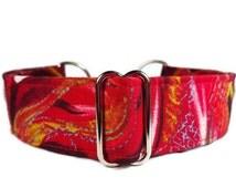 Red Abstract Art Dog Collar * Cat Collar * Martingale Collar * Buckle Collar * Chain Martingale * Breakaway Cat Collar
