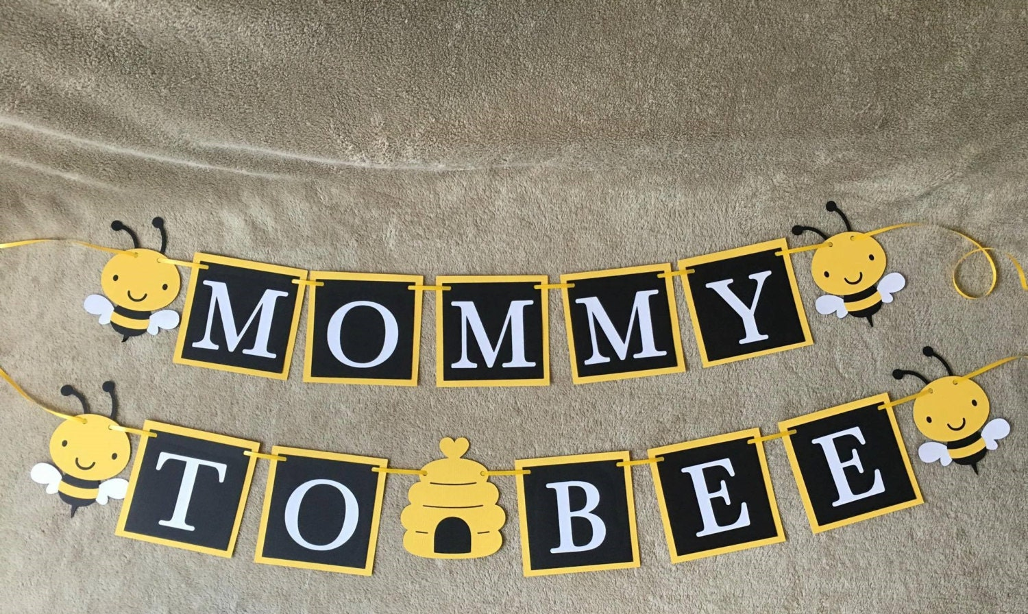 Mommy To Bee Banner Yellow Bees Great For Baby Showers Free
