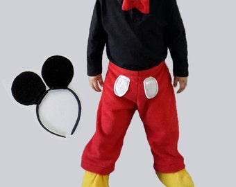 PDF Mickey Mouse pattern, Costume for boys, PDF costume, Halloween