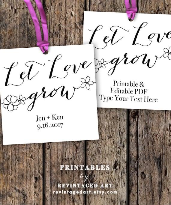 let love grow tags      printable  u0026 editable by revintagedart