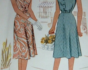 Vintage 1947 McCall Pattern Ladies and Misses Dress Pattern Size 18 Bust 36 Complete