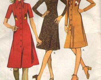 Vintage 1970s Style Sewing Pattern 3354- Misses' Dress size 18 uncut FF