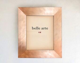 Brushed Copper Rose Gold Metallic Finish Picture Frame in size 4x6 5x7 8x8  8x10 11x14 16x20 20x24 24x30 24x36 custom sizes small to large