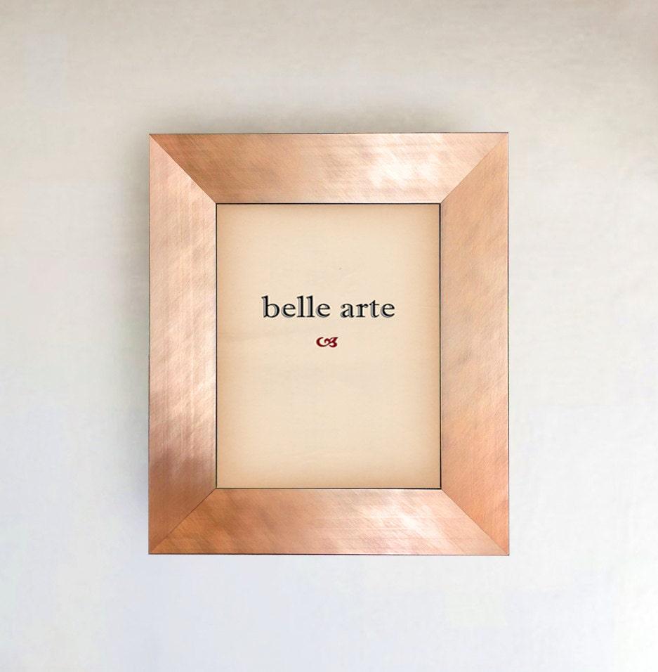 brushed copper rose gold metallic finish picture frame in size. Black Bedroom Furniture Sets. Home Design Ideas