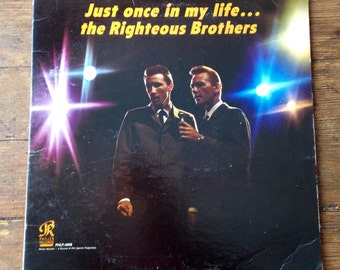1965 Just Once In My Life . .  The Righteous Brothers, Record Album PHLP - 4008. VG Sleeve, VG Records. Phillies Records
