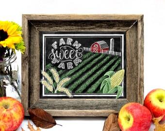 Farm Sign, So God Made A Farmer, Chalkboard Art, Chalk Art, Farm Sweet Farm, Farm House Decor