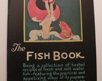 The Fish Book  1928 published by Woman's World Magazine Co. Inc., Chicago Pristine Cover