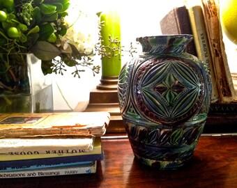 Arts and Crafts style pottery vase ceramic vase flower vase Glazed pottery handmade vase Studio pottery ceramics and pottery Bohemian decor