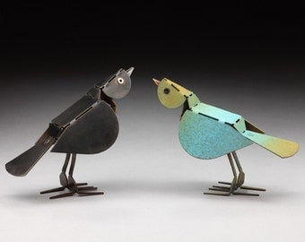 Birdy - bird sculpture [natural]