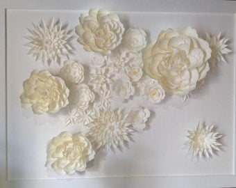 Paper flower for wedding wall
