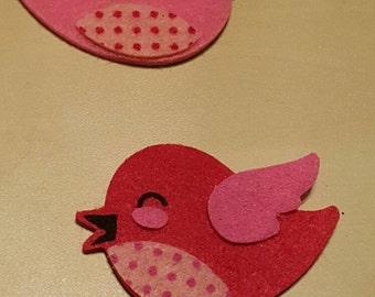 Small Love Birds Hair Clip