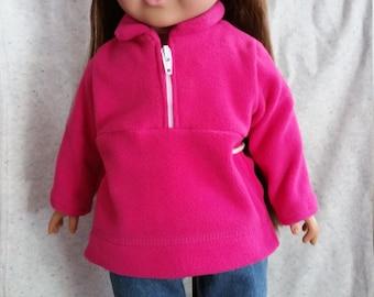 Fleece and Jeans w/ bonus t-shirt for American Girl Dolls