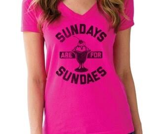 Sundays are for Sundaes Ice Cream Shirt - Ice Cream Tee - Ice Cream Lover - Dessert Shirt - (Please see SIZING CHART in Item Details)