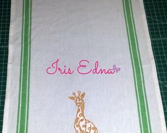 Giraffe Kitchen Towel / Personalized Kitchen Towel