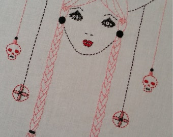Fine Art Embroidery 'Nordic Lady'
