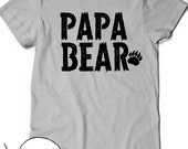 Papa Bear T-Shirt First Fathers Day Gift Ideas T Shirt Tee Present New Daddy Baby Shower Grandfather Pop-Pop Dad Grandpop Granddad Pop Papa