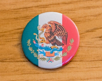 Mexico Pinback Button - Mexican Flag Pin
