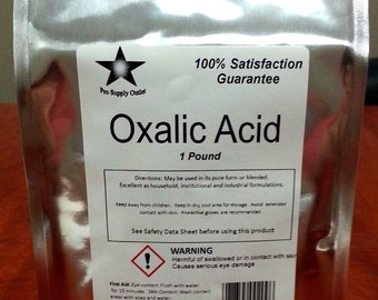Oxalic Acid 99.6% Dihydrate Wood Bleach Rust Remover 1-5 Lb Choose Your Size