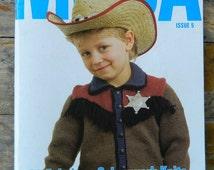 MODA IMPACT Issue 5 Knitting Pattern Book . Kids 4 to 10 years . cowboy dinosaur gloves trucks . ugly christmas sweater . beanies fingerless