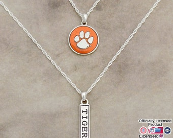 Clemson Tigers Double Down Necklace - CL57785
