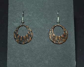 Outerspace Copper Earrings