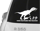 Vinyl Dinosaur Stick Family Car Decal