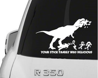 Vinyl Dinosaur Stick Family Car Decal