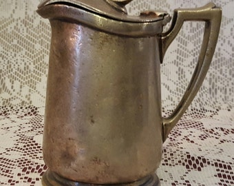 NORTHERN PACIFIC RAILWAY International Silver Co. Creamer/Syrup with Attached Lid