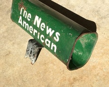 The News American Newspaper Mailbox Slot Vintage Mid-Century
