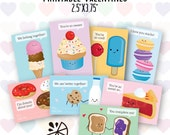 Sweet Treats Valentine Card Kids Printable INSTANT DOWNLOAD PDF
