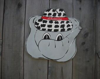 Alabama Crimson Tide, Alabama football,  Alabama door hanger, Alabama decor, Alabama elephant, Alabama wall art, Alabama baby