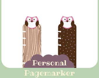 Pagemarker filofax owl pink - printable - Personal size
