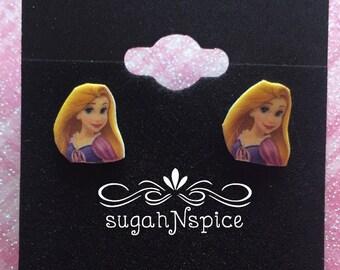 Rapunzel Earrings - Disney Princess Earrings - Princess Rapunzel - Earrings - Little Girl Earrings - Princess earring - Rapunzel Posts