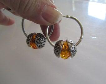 Yellow Hoop Earrings, Silver Hoop Earrings, Hoop Earrings, Birthday Gifts Women, Earrings, Silver Earrings, Yellow Earrings, Silver Hoops