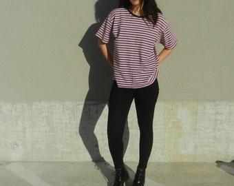 Reserved- do not buy- vintage striped boxy t shirt size medium / large