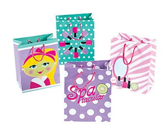 12/ Spa Tacular Small Favor Bags / Spa day party theme/ spa day/ Spa Party /Favor bags /Treat bags