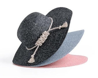 Floppy sun hat , Wide brim speckled Hat , Summer hat , Gift for her.