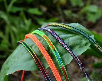 Colorful Braided Hand-Made Friendship Bracelet, Summer Bracelet, Unisex Bracelet, Neon Jewelry, Knot, Christmas Gift, Stocking Stuffer