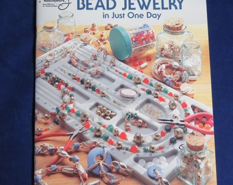 Learn To Make Bead Jewelry/ How to Book/ Learn In One Day/ Deborah Sekerak